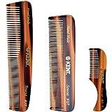 Kent Handmade Combs for Men, 81T Pocket Mustache Comb,...