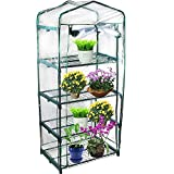 Ideal for small backyards or homes where space is an issue; place on a deck, patio, or balcony Gives seeds, seedlings, and young plants an early start Clear polyethylene cover and roll-up zippered door for easy access Strong push fit tubular steel fr...