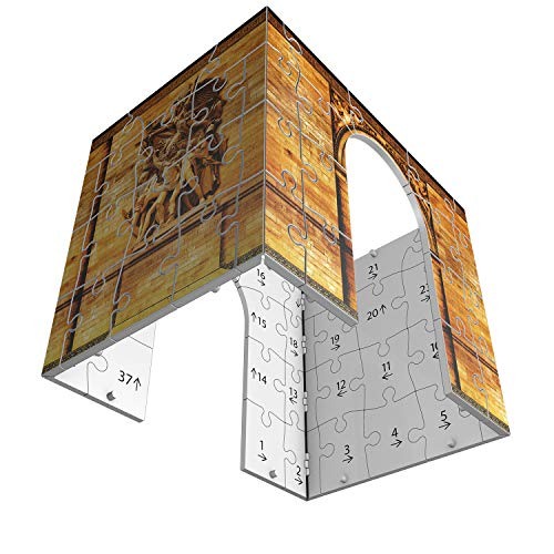 Ravensburger- Puzzle 3D Arco del Triunfo Night 216 Piezs, Multicolor (12522)