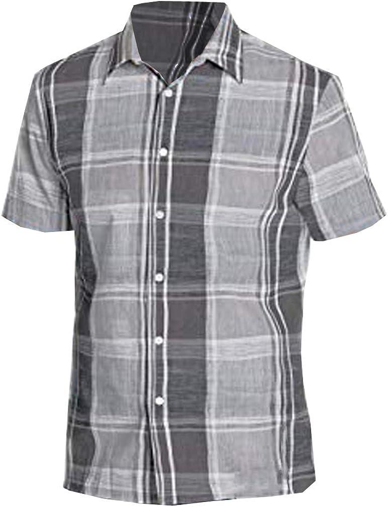 Perry Ellis Camisa Grande de Cuadros Chambray para Hombre