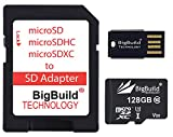 eMemoryCards 128GB ultraschnelle 100MB/s U3 microSDXC Speicherkarte Kompatibel mit für Amazon Fire 7, 8 10, Plus, Kids Edition, HD Edition Tablet