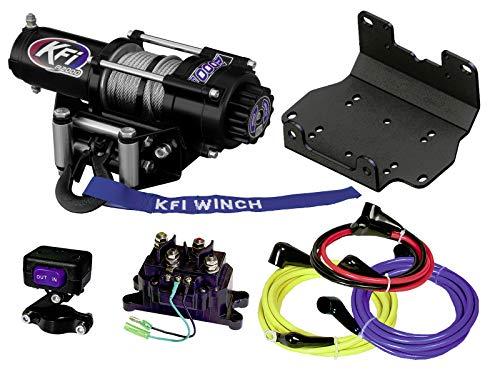 KFI A2000 2000lb Winch & 101275 Winch Mount kit Compatible/Replacement for 2016-2021 Yamaha Kodiak 700 4x4