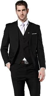 MOGU Men's Slim Fit 3 Piece Dress Suits Prom Dress Suit Set