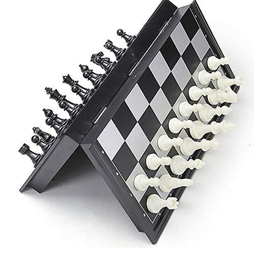 M.Q.L. Schachspiel Magnetischem für Erwachsene und Jugendliche - Einklappbar Schachbrett Schach - Lässiges Puzzle-Strategiespiel - 25x25x2cm
