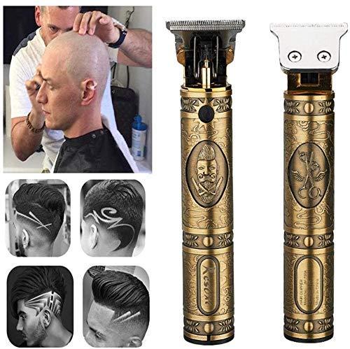 EKUPUZ Haarschneidemaschine, USB Profi Friseur Haarschneider Herren Haarschneider Detailer Cordless Elektrischer Haartrimmer Präzisionstrimmer Männer Intim Haarschneideset (Gold B)