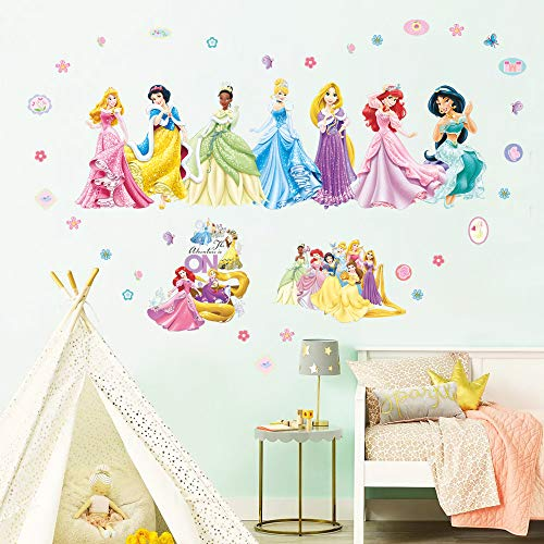 Supzone Princess Wall Stickers Girls Wall Décor Removable Art Decor Wall Decals for Girls Bedroom Children#039s Room Nursery Playroom Wall Decor
