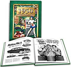 "8.75"" x 11.25"" hardcover 160 Pages, Black & White US, World, Pop Culture, Sports, & Entertainment history Facts and events of 1950 Second Edition"