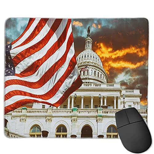 MTevocon Alfombrilla de ratón de Oficina,Washington DC Estados Unidos Landmark Nationa, Base de Goma Antideslizante Alfombrilla de ratón para Juegos Alfombrilla Decoración de Escritorio 9.5'x7.9