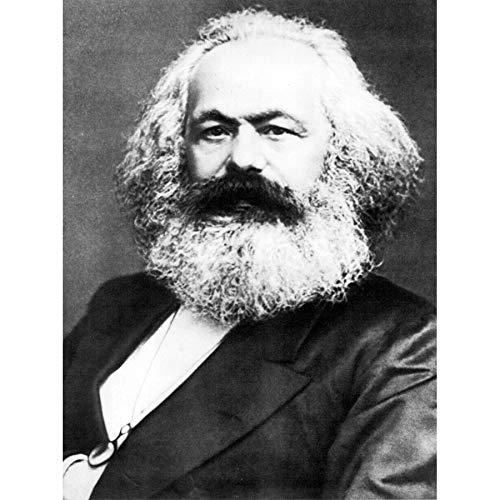 Portrait Politischer Theorist Philosoph Karl Marx Kunstdruck auf Leinwand, Premium-Wanddekoration, Poster Wandbild