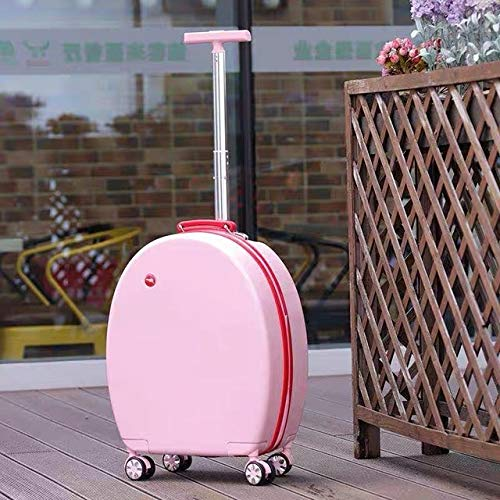 Mdsfe 20''Rolling luggage set children suitcase with wheels kid trolley bag girl's travel cabin carry on luggage cartoon Cute box Cute - 20 inch Pink