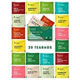 Teabox 100% Natural Immunity Boosting Green Tea Sampler, with 10 Different Exotic Flavors - 20...