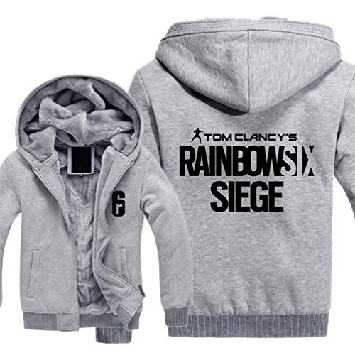 Xdsy Game Rainbow 6 Siege Rainbow Six Skull Rain Épaissir Sweat à Capuche en Coton Sweat à Capuche,12,L