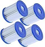 Cartucho de filtro Bestway tipo I para piscinas, para Bestway Pool Easy Set Filtro de Reemplazo - Tipo I, 4