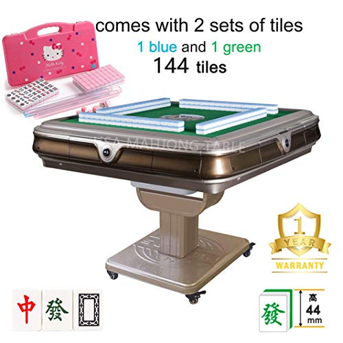 144Tiles 44mm 松乐 超大手感牌 Folding Automatic Mahjong Table with 4 Drawers & 2 Sets of 44mm No Number...