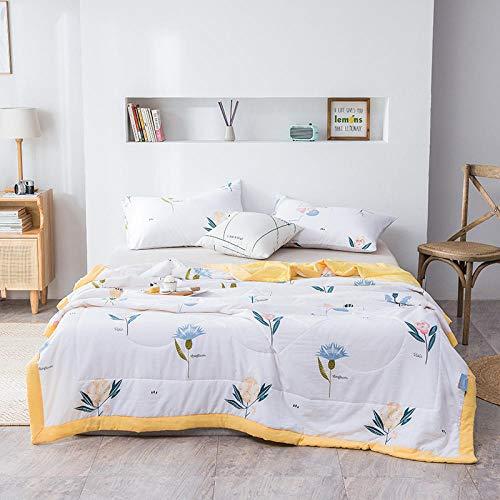 Meet Beauty Bedding EdredóN NóRdico Edredón de Aire Acondicionado Infantil Lavado de algodón de algodón Luz de Acolchado, transpirable-34_180x220cm