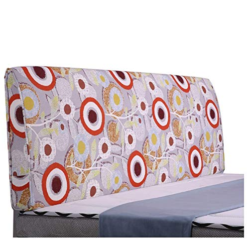 QIANCHENG-Cushion Kopfteil Rückenlehnen Bett Kissen Rückenlehne Großes Taillenkissen Bedruckte Softtasche Haushalt Kissen Waschbar, 7 Farben (Color : #7, Size : 120x60cm)