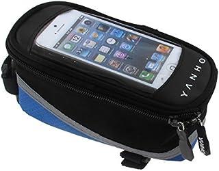 eDealMax Para Bicicleta exteriores subir teléfono celular Bolsa bolso del tubo Azul