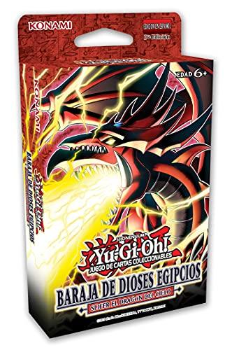 Yu Gi Oh!- Baraja de Dioses Egipcios: Slifer el Dragón del Cielo (Idioma ESPAÑOL) Juego DE Cartas COLECCIONABLES, Color (Konami 4012927848555)