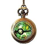 Pokemon Pokeball Pocket Watch Anime Pokemon Go Pikachu Pokemon Locket Wtach Necklace (Style3)