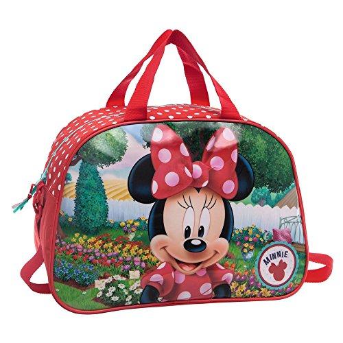 Disney Minnie Garden Sac de Voyage, 40 cm, 24.64 L, Rouge