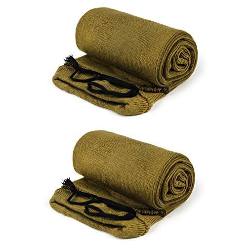 GUGULUZA Extrabreit Waffensocke,Silikon behandelt, für Schrotflinten Sleeve und Gewehr Zielfernrohr (Gelb, 132cm x 15 cm)