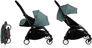 Babyzen Yoyo+ Stroller & Newborn Set - Black Frame with Aqua Fabrics
