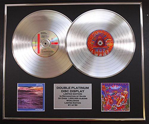 SANTANA/Cd doble Disco de Platino Record Display/Edicion LTD/Certificato di autenticità/MOONFLOWER & SUPERNATURAL