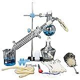 Sucastle Unidad de Destilación Conjunto de Vidrio de Laboratorio Ciencia Industrial Destilador Pure...