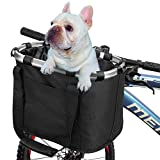 Hojoy Collapsible Bike Basket, Pet Basket For Bike Bicycle & Bicycle Front Basket, Aluminum Alloy Bicycle Frame, Easy To Install And Detachable Cycling Bag, Portable Shopping, Picnic