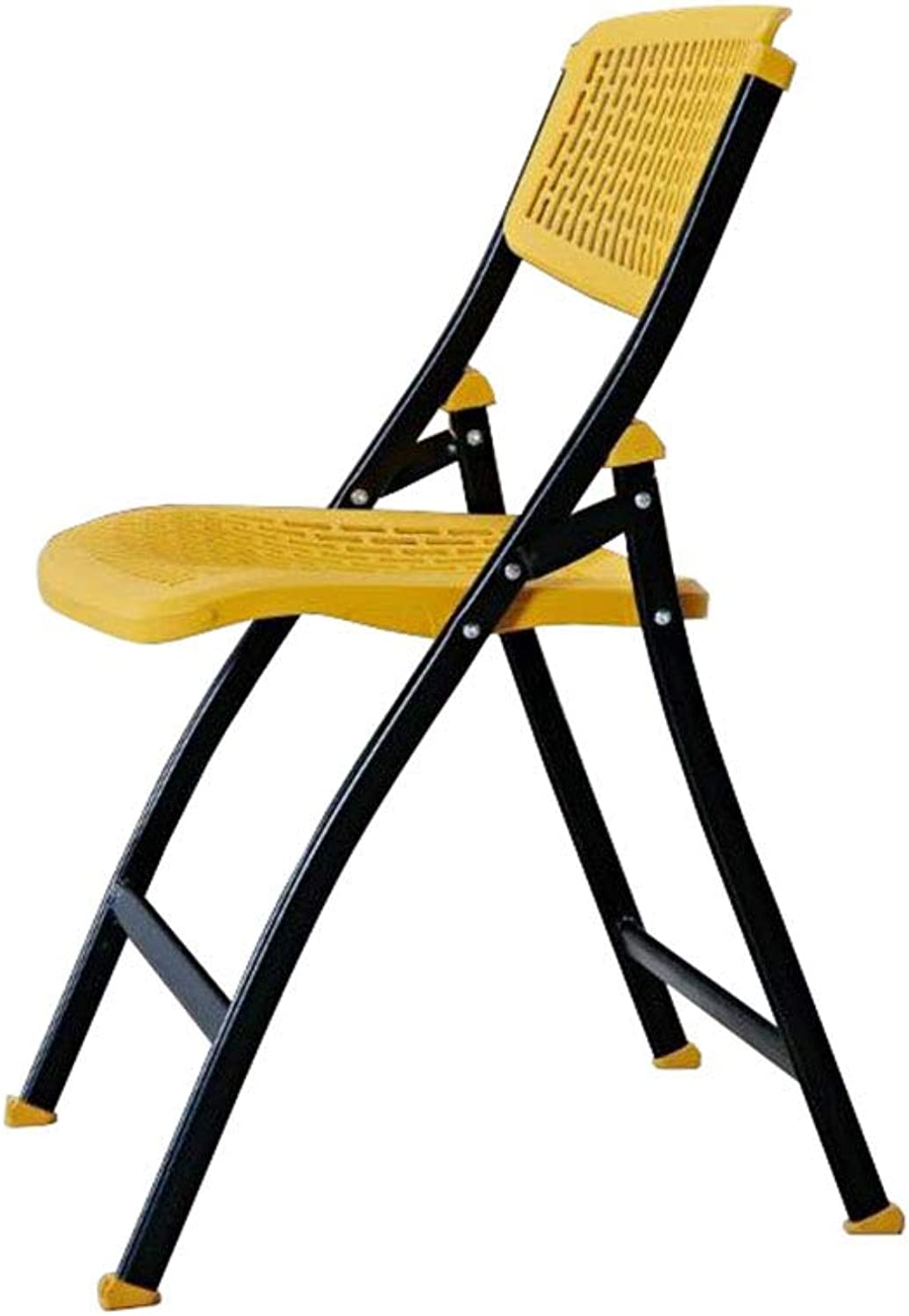 Folding Chair Training Meeting Chair Computer Backrest Chair Yellow Padded Breathable Leisure Portable
