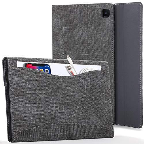 FC Hülle für Samsung Galaxy Tab S6 Lite - Galaxy Tab S6 Lite 10.4 Hülle mit Dokumenten-Tasche & S Pen Halter - Schwarz - Smart Auto Schlaf/Wach, Samsung Galaxy Tab S6 Lite 10,4 zoll 2020 Hülle, Tasche