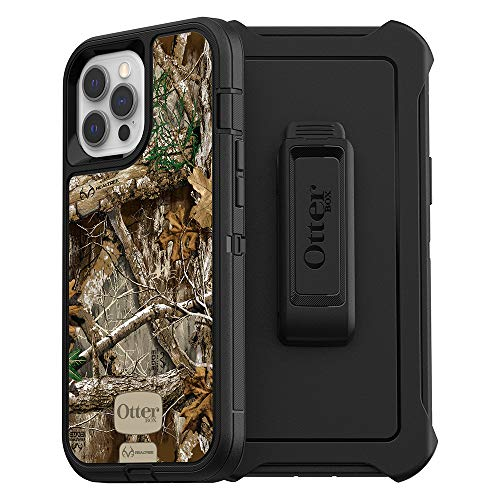 OtterBox Defender Series SCREENLESS Edition Case for iPhone 12 Pro Max - Realtree Edge (Black/Realtree Edge Graphic)