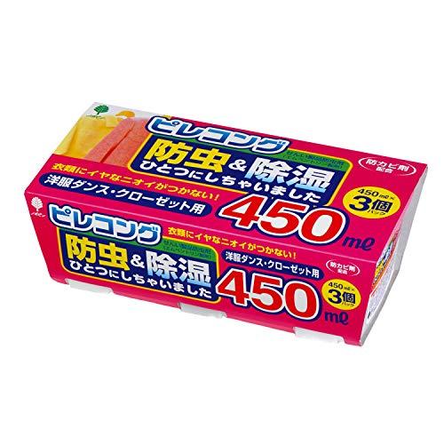 紀陽除虫菊 ピレコング 防虫&除湿 450ml ×3個 [0071]