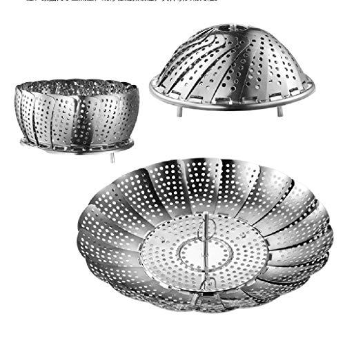 Ouneed - Kitchen Dämpfkorb Stainless Steel - Einstellbar Dünsteinsatz Edelstahl - Vegetable Steamer, Pasta Steamer, Fruits Basket,Dämpfeinsatz - Dampfgarer Gemüsedämpfer 15X8cm