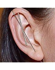 耳ラップクローラーフックイヤリングサッシュ耳針耳介クリップジュエリーの周り、スパークリングメタルクラシックイヤリング