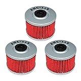xr650 oil filter - AHL 112 Oil Filter for Honda CRF250L CRF250 L 250 2013-2015 (Pack of 3)