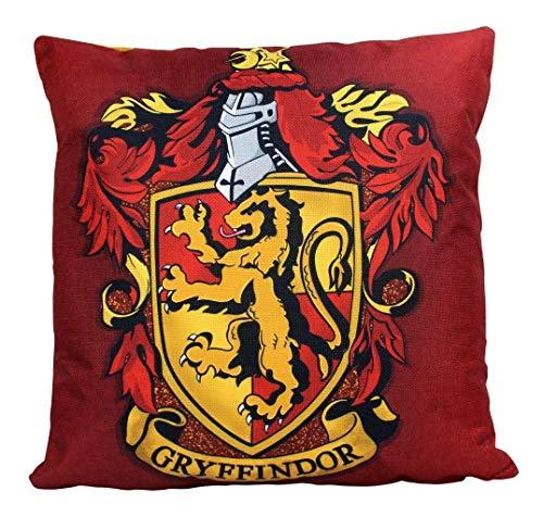 To243Finn - Federa per cuscino, motivo Grifondoro, decorazione Hogwarts House Crests