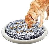 LAMTWEK Diámetro 43cm - Alfombra Olfativa Perros, Juguete Perro Interactivo,Manta Olfativa para Perros, Antideslizante, Fomente Las Habilidades Naturales de búsqueda de Alimentos de Las Mascotas