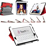 Touchfire Ultra-Protective Case, 3-D Keyboard, Sound Booster & Magnetic Mount for iPad 2, 3, 4 - Red