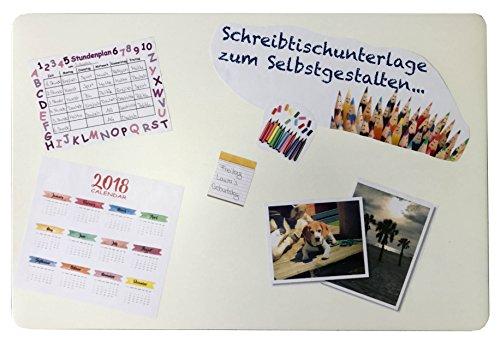 Schreibtischunterlage 40 x 60 cm transparent zum Selbstgestalten I Einstecken von Fotos I Bildern I Notizen I Kalender