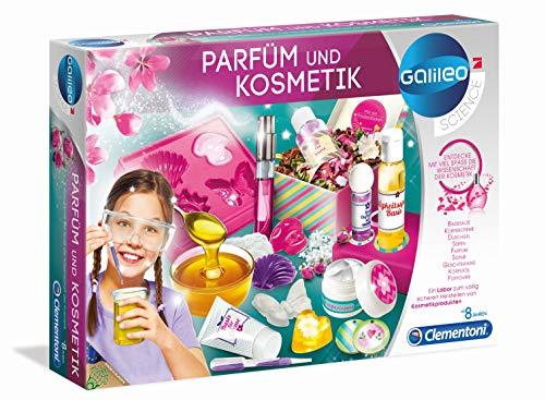 Clementoni 59032 Galileo Science – Parfüm und Kosmetik, wohlriechende Badesalze, Öle & Parfüms kreieren, Spielzeug für Kinder ab 8 Jahren, Experimente für Zuhause
