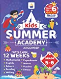 Kids Summer Academy by ArgoPrep - Grades 5-6: 12 Weeks of Math, Reading, Science, Logic, Fitness and Yoga | Online Access Included | Prevent Summer Learning Loss