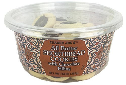 Trader Joe's All Butter Shortbread Cookies With Chocolate Filling 14 Oz( pack of 1)