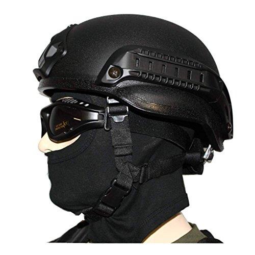 AOS-Outdoor Gefechtshelm Mich 2002 W/Rail komplett + Balaclava 1-Loch + Tactical Brille