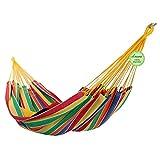 Denana Alegria - Hamaca doble (100% algodón), multicolor