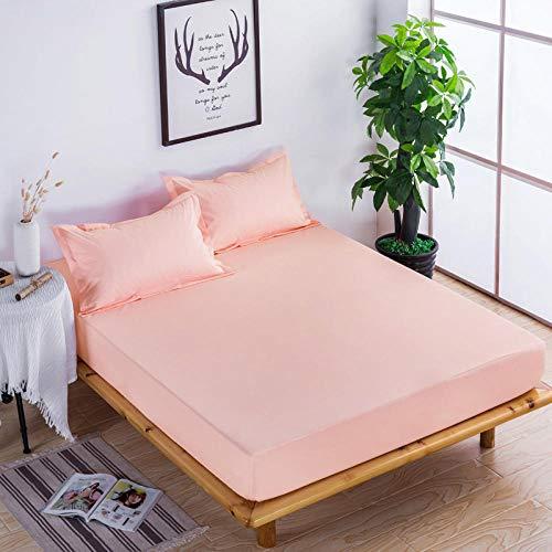 XGguo Protector de colchón Acolchado - Microfibra - Transpirable - Funda para colchon estira hasta Sábana Impermeable cepillada impresión en Color sólido -5_120x200x28cm