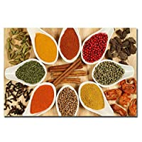 BGGGTD ポスター ピザ野菜キッチンキャンバス絵画クアドロスレストランポスターとプリント現代の家の壁アート食品写真アート-50x70cmx1フレームなし