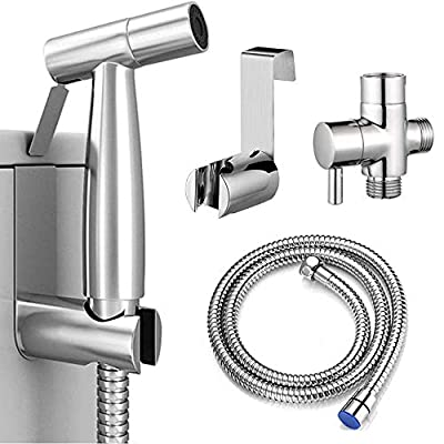 OTTOLIVES Handheld Bidet Sprayer for Toilet, Spray Attachment with Hose for Feminine Wash, Baby Cloth Diaper Washer, Stainless Steel Cleaner and Shower Sprayer for Pet, Bathroom or Toilet