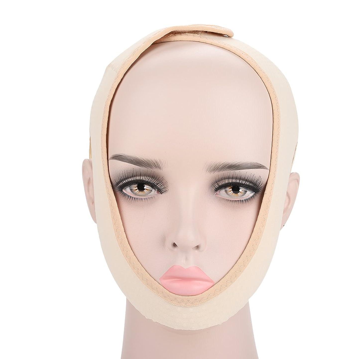 マサッチョシャンプー蓄積する顔の輪郭を改善するための顔の痩身マスク、通気性と伸縮性、二重あごを和らげ、顔の手術とリハビリ