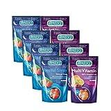 Restorz Restful Sleep Melatonin Gummies 5mg and Vitamin C Immune Support Gummy, Day and Night Gummy Pack Bundle, Strawberry Flavor, (112 Count, 1 Month Supply, 30 Servings)